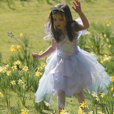 Feklänning med vingar - ljuslila, 6-8 år