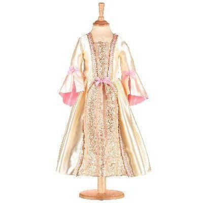 Klänning - guld och rosa, 3-5 år