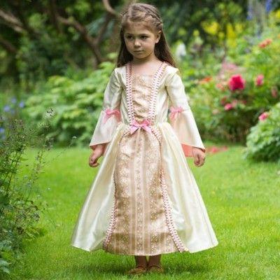 Klänning - guld och rosa, 6-8 år