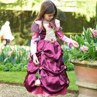 Prinsessklänning med rosor, 3-5 år