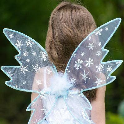 Feklänning - snöfe med vingar, 3-5 år