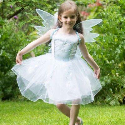 Feklänning - snöfe med vingar, 6-8 år