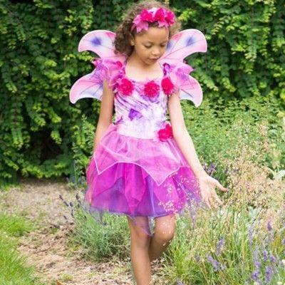 Feklänning med vingar - fuchsia, 3-5 år