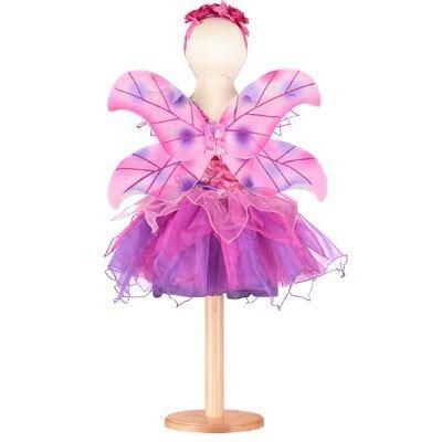 Feklänning med vingar - fuchsia, 6-8 år
