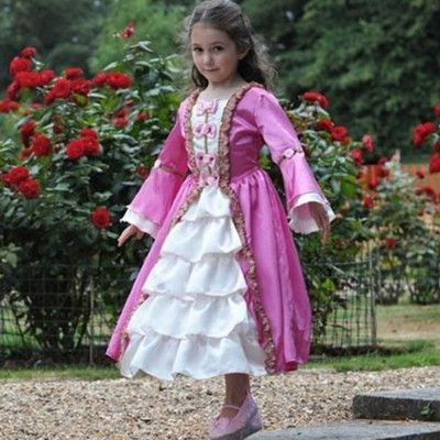 Prinsessklänning - Marie Antoinette, 9-11 år