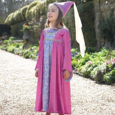 Klänning - jungfru från renässansen, 6-8 år