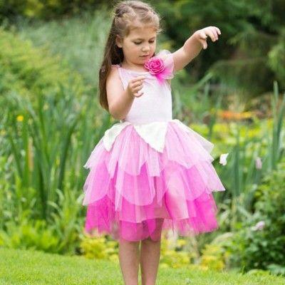 Feklänning - rosenblad, 6-8 år