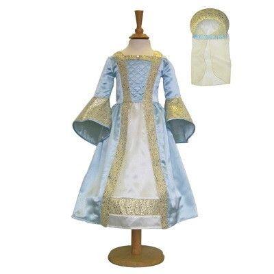 Prinsessklänning - medeltida - ljusblå, 6-8 år