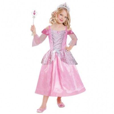 Prinsessklänning med tiara och spö, 3-6 år