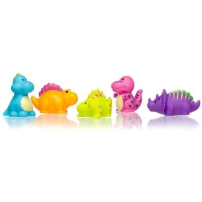 Badleksak - vattensprutande dinosaurier, 5 st