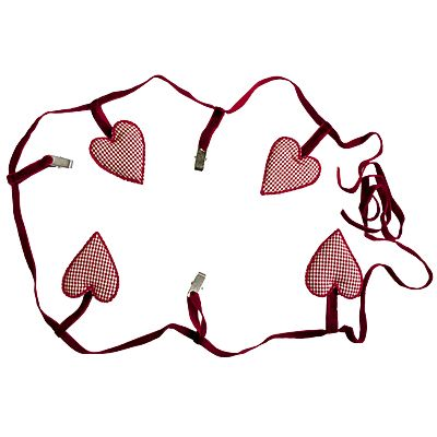 Girlang med hjärtan och klämmor