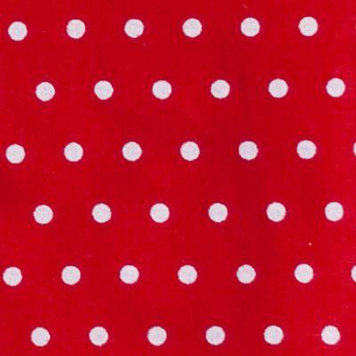 Kuddfodral - röd - prickig med tygblommor