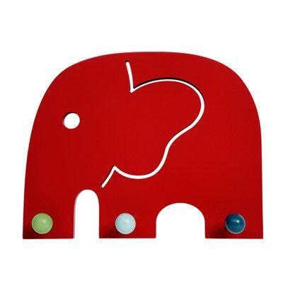 Kroklist med tre krokar - elefanten Oscar - ekologisk från Franck & Fischer