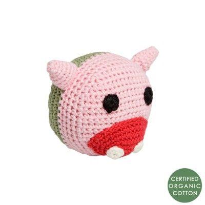 Babyskallra - boll - gris - ekologisk från Franck & Fischer