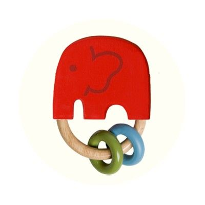 Gripleksak - elefanten India röd - ekologisk från Franck & Fischer