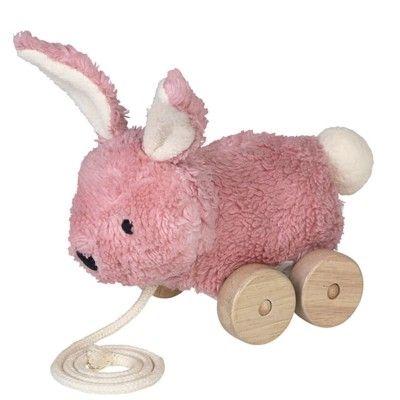 Dragleksak - Mingus pink rabbit - ekologisk från Franck & Fischer