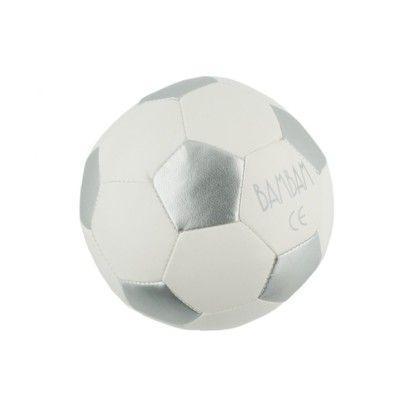 Mjuk boll - fotboll i vitt och silver