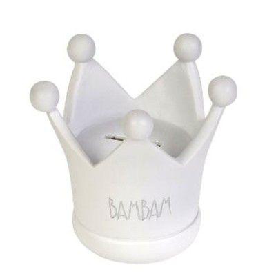 Sparbössa - vit krona - BamBam