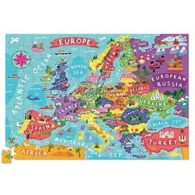 Pussel - Europa med poster - 200 bitar