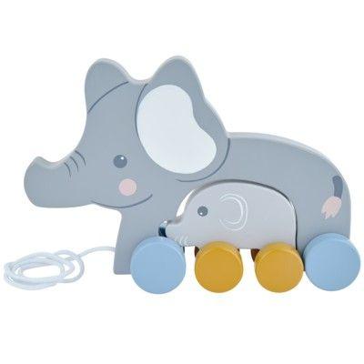 Dragleksak - Elefantmamma med barn