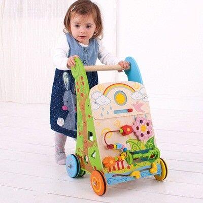 Lära gå och aktivitetsvagn - blommor - Bigjigs