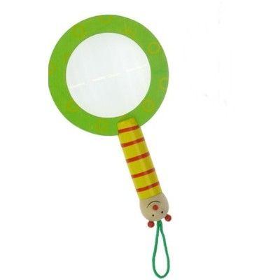 Förstoringsglas - grön larv