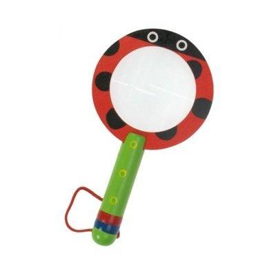 Förstoringsglas - röd nyckelpiga