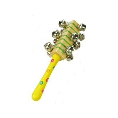 Handbjällra med handtag - gul