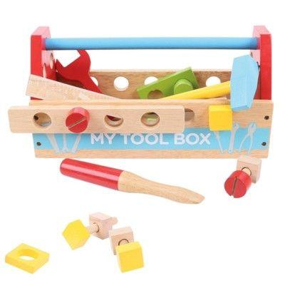 Verktygslåda med verktyg i trä - My tool box