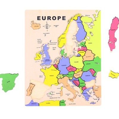 Pussel - Europa - 20 bitar