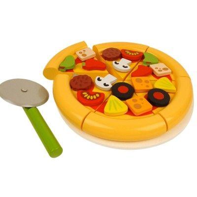Leksaksmat - Pan pizza med pizzaskärare - Bigjigs
