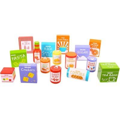 Leksaksmat - Matförpackningar i trä - Bigjigs