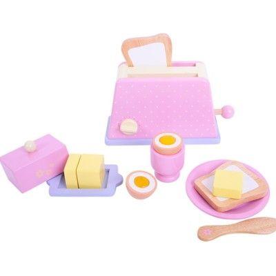 Leksaksmat - Frukostset i trä - Bigjigs