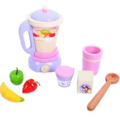 Leksaksmat - Mixer och frukt - gör egna smoothies - Bigjigs