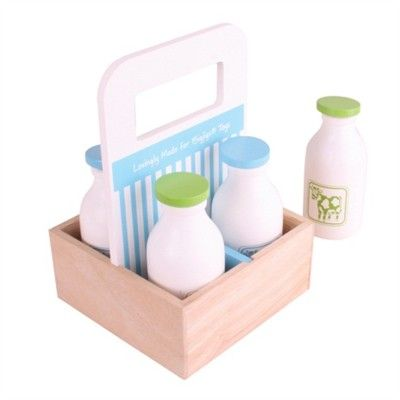 Leksaksmat - Mjölkleverans - Bigjigs