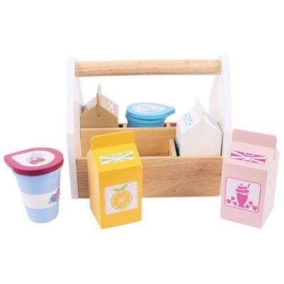 Leksaksmat - Mjölkprodukter i trä - Bigjigs