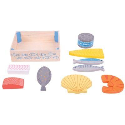 Leksaksmat - Fisk och Skaldjur - Bigjigs