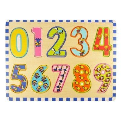 Pussel - Lär dig räkna 0-9 - Bigjigs