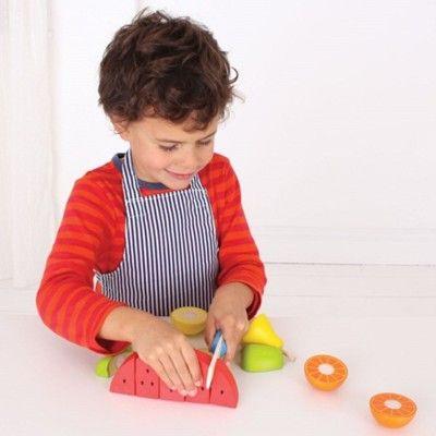 Leksaksmat - Förkläde och 4 frukter - Bigjigs