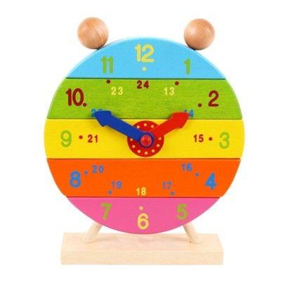 Klocka i trä - stapla klockan - Bigjigs