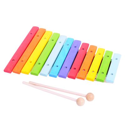 Xylofon i trä - regnbågens färger - Bigjigs
