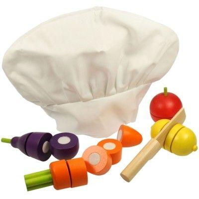 Leksaksmat - Kockmössa och 4 grönsaker