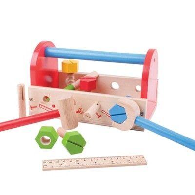 Verktygslåda med verktyg i trä - My tool box - Bigjigs