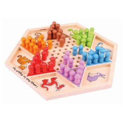 Spel - Kinaschack i trä - djur - Bigjigs