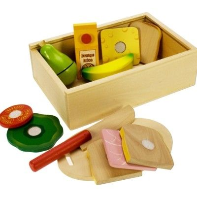 Leksaksmat - Lunchlåda i trä