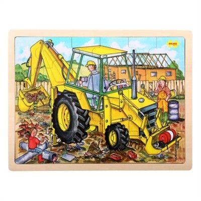 Pussel - grävmaskin - 24 bitar