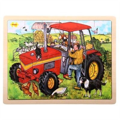Pussel - traktor - 24 bitar - Bigjigs