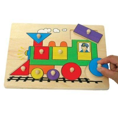 Knopp-pussel med tåg