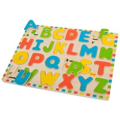 Pussel i trä med bokstäver och bilder - Bigjigs