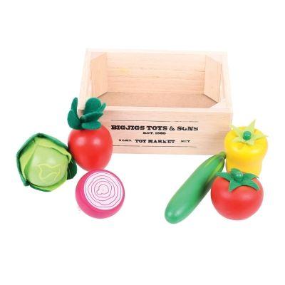 Leksaksmat - Salladsgrönsaker i låda